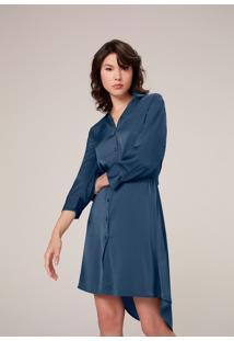 Vestido Curto Chemise - Azul