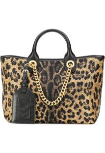 Dolce & Gabbana Bolsa Tote Capri Com Estampa Leopardo - Neutro