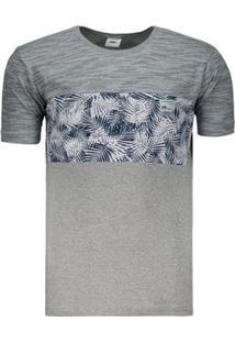 Camiseta Hd Especial Casual Claro Masculina - Masculino-Cinza