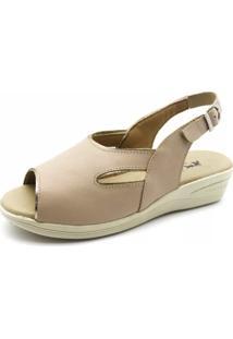 Sandália Anabela Doctor Shoes 161 Baunilha