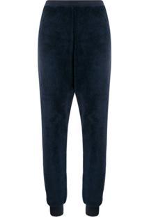 Emporio Armani Calça De Pijama Com Pelos - Azul