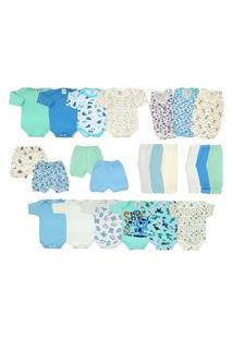 Kit Bebê 23 Peças Enxoval Completo Azul