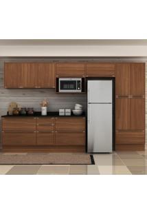 Cozinha Compacta 13 Portas 4 Gavetas 5474Tr Nogueira/Malt - Multimóveis