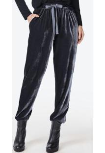 58c6882b0 ... Feminina Azul Jeans Enfim. Ir para a loja  Calça Jogging Veludo Preto