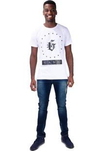Camiseta Gang Alongada G Stars Branca