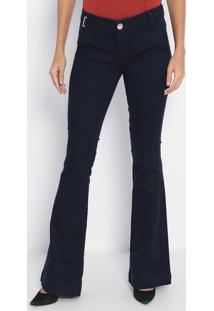 Jeans Flare Tálassa- Azul Escuro- Lança Perfumelança Perfume