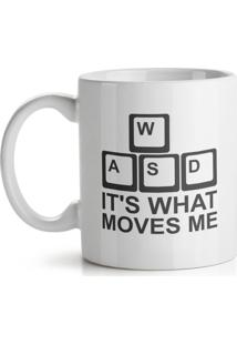 Caneca Pc Gamer Wasd Its What Moves Me Geek10 - Branco