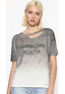 """Blusa """"American Youth"""" Com Linho - Cinza & Pretacalvin Klein"""
