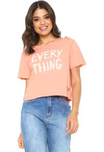 Camiseta Sommer Estampada Coral