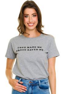 T-Shirt Jogabe Estampada Cinza - Kanui