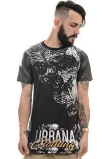 Camiseta Caveira Diamante Strass Urbana Clothing - Masculino