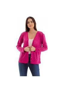 Cardigan Kassis Tricot Trabalhado Pink