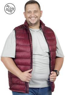 Colete Plus Size Nylon Bigshirts Vinho