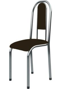 Cadeira Marcheli Anatômica 0.122 Estofada Cromado/Tabaco