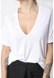 Camiseta Gola V Superfluous Eco Branca - Tricae