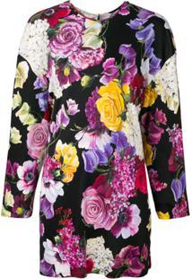 Dolce & Gabbana Blusa Floral Mangas Longas - Preto