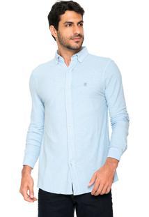 Camisa Polo Wear Reta Flamê Azul