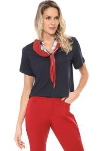 Camiseta Lança Perfume Sobreposição Azul-Marinho/Vermelho