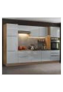 Cozinha Completa Madesa Lux Com Armário E Balcão 9 Portas 5 Gavetas - Rustic/Cinza