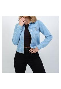 Jaqueta Jeans Média Azul Lady Rock
