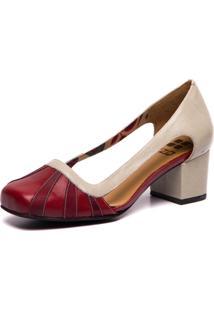 Sapato De Couro - Amora / Marsala / Araã§Ã¡ 7316 - Brenda Lee Mzq - Branco - Feminino - Dafiti