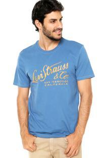 Camiseta Levis Estampada Azul