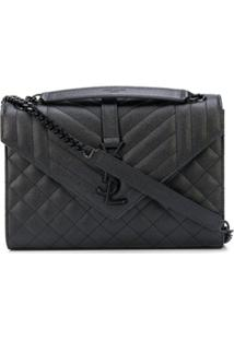 Saint Laurent Bolsa Envelope Média - Preto