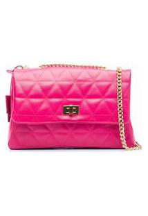 Bolsa Couro Ana Cavalcanti Matelassê Pink