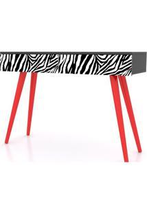 Aparador Zebra Pes Palito 2 Gavetas 90 Cm - 32478 Sun House
