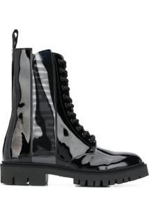 Moschino Ankle Boot Militar - Preto