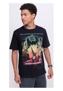 Camiseta Com Estampa Bob Marley