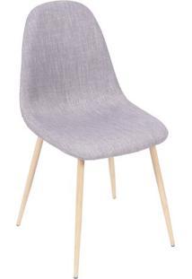 Cadeira Charla- Cinza & Madeira- 85,5X45X40Cm- Oor Design
