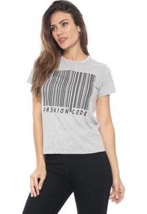 Camiseta Polo Wear Fashion Code Cinza