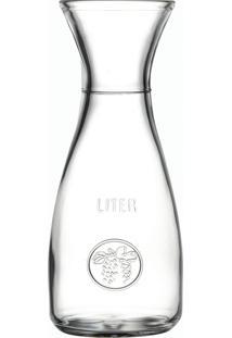 Jarra Pasabahçe Para Água / Suco Em Vidro - 1 L - Linha Bacchus - Transparente