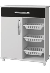 Armário Cozinha Com Fruteira Goiânia Arte Móveis -Branco