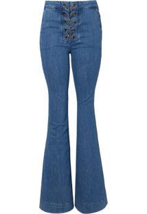 Calca Bobô Chains Feminina (Jeans Medio, 38)
