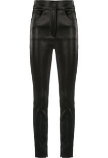 Dolce & Gabbana Calça Skinny Brilhante - Preto