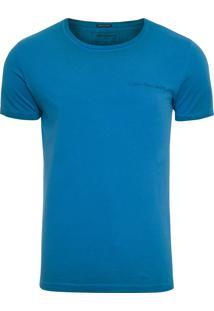 Camiseta Masculina Estampa Logo - Azul