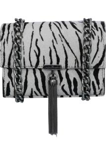 Bolsa Transversal Luiza Barcelos Bolsa Zebra