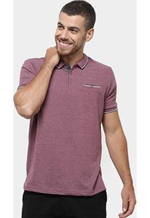 Camisa Polo Broken Rules Frisos Masculina - Masculino-Vinho