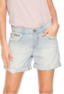 Bermuda Jeans Lunender Reta Azul