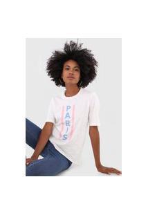 Camiseta Only Paris Branca