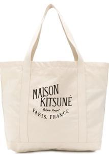 Maison Kitsuné Bolsa Tiracolo Com Logo Estampado - Neutro
