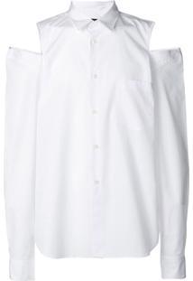 Comme Des Garçons Homme Plus Camisa Com Vazado Nos Ombros - Branco