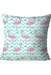 Capa De Almofada Love Decor Flamingos Love Multicolorido Azul