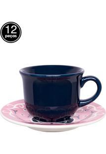 Conjunto 12 Pçs Xícaras De Chá 200Ml 15Cm Hana Colorido Daily