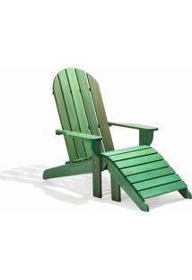 Cadeira Adirondack - Com Peseira Stain Verde