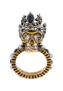 Alexander Mcqueen Anel 'Queen Skull' - Metálico