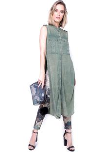 Camisa Lança Perfume Comfort Alongada Verde