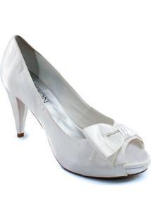 71c846fa81 ... Peep Toe Com Laço Belmon - M05 - Feminino-Branco